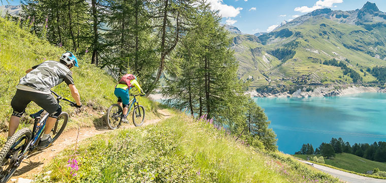 tignes and val d'isere mountain biking